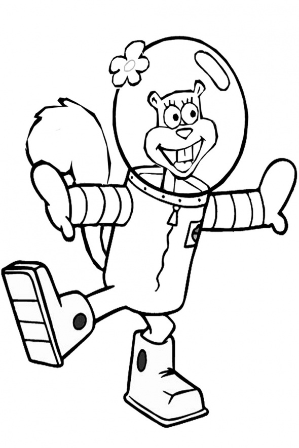 sandy cheeks coloring pages  eassume, printable coloring